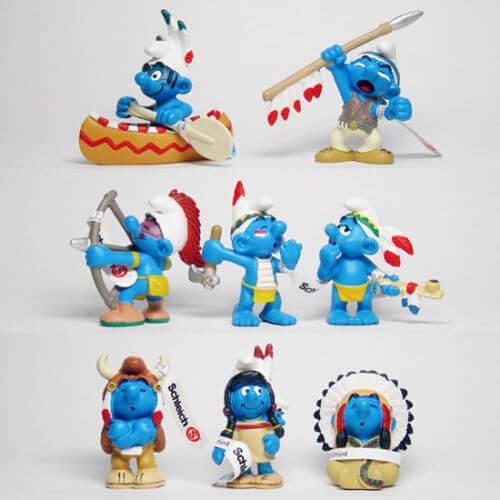 Schtroumpf Indienne figurine schtroumpfs neuf à très bon état #37