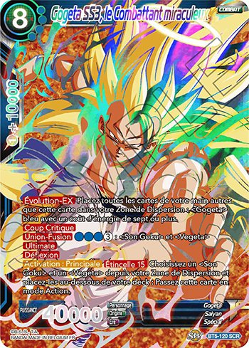 Dragon Ball Super Card Game Miraculous Revival 120 Gogeta Ss3 Le Combattant Miraculeux